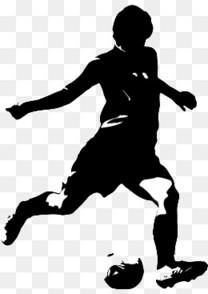 手绘踢足球的人物