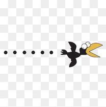 h5素材乌鸦飞过