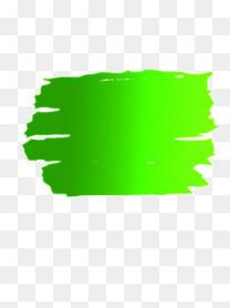 绿色颜料印记