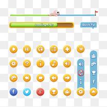 游戏UI网游按钮