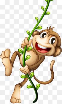 卡通小猴子