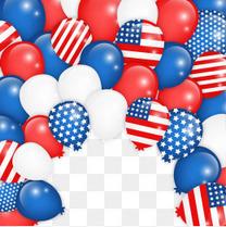 美国星条旗气球背景