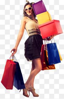购物女人打折元素