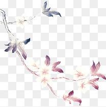 中国风手绘花朵