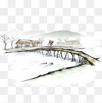 水墨小桥流水