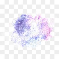 蓝紫色水彩效果