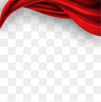 红色丝带飘带