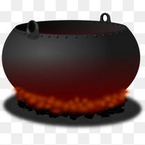 火焰与铁锅