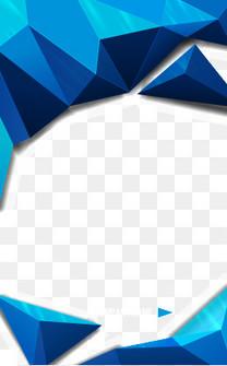 矢量几何立体多边形边框海报