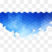 矢量蓝色渐变几何组合