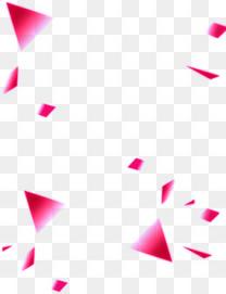 四散的菱形