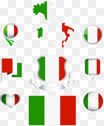 矢量意大利地图