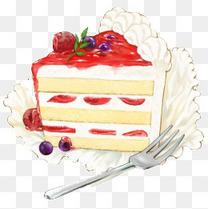 卡通手绘草莓蛋糕