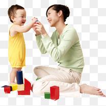 妈妈陪宝宝玩