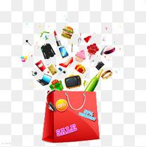 红色购物袋
