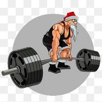 健身的圣诞老人