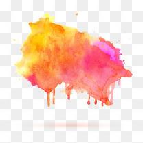 矢量彩色水墨