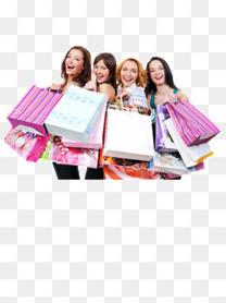 购物外国美女