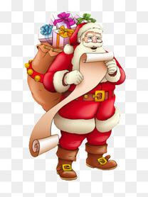 背着礼物的圣诞老人
