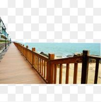 厦门海边长廊风情