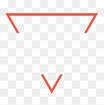 红色倒三角形