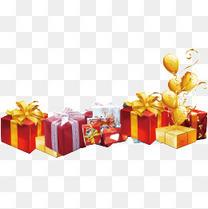 一堆礼物盒