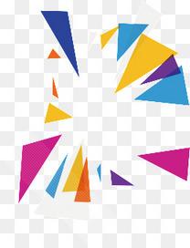 五彩几何体背景