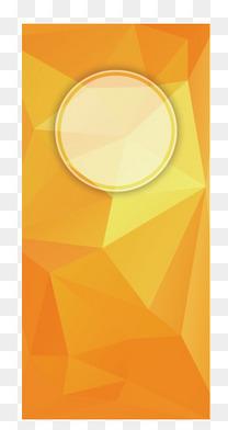 橙色几何体背景