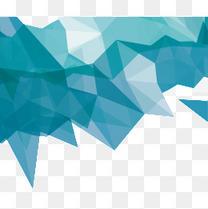 蓝色不规则几何图形