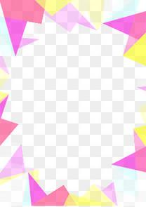 彩色不规则几何体