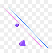 紫色立体钻石直线