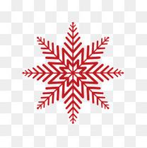 圣诞节大雪花图案