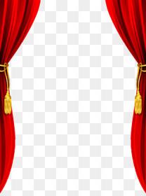 红色舞台幕布