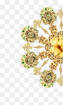 金色胸花装饰图