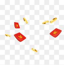 漂浮红包金币