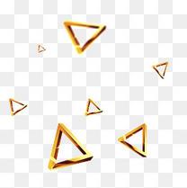 金色多边形立体素材