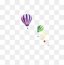 热气球素材