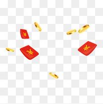 漂浮金币和红包
