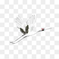 古风水墨中国风飞鹤装饰