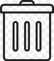 垃圾桶100 -响应-线-图标
