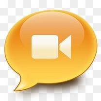 视频泡沫聊天iChat表情图标