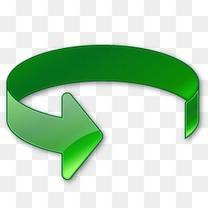 旋转明智的绿色箭头vista-arrow-icons