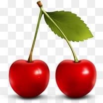 樱桃水果Paradise-Fruit-Icon-Set