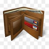 钱包电子商务与商业图标