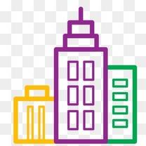 商务中心城市回家房子图标办公室业务