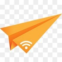 橙色折纸纸飞机RSS社会化媒体社会层面