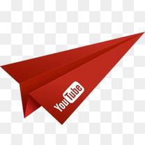 折纸纸飞机红社会化媒体视频YouTube社会层面