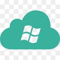 云微软操作系统系统Windows绿色云端网络图标版05 -免费