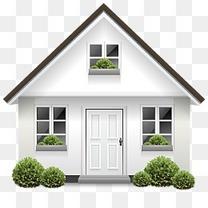 灌木丛门回家房子包裹晶体工程