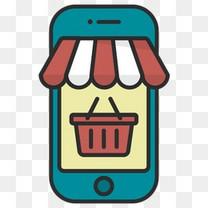 在线购买电子商务移动网上商店电话店购物篮店支付5
